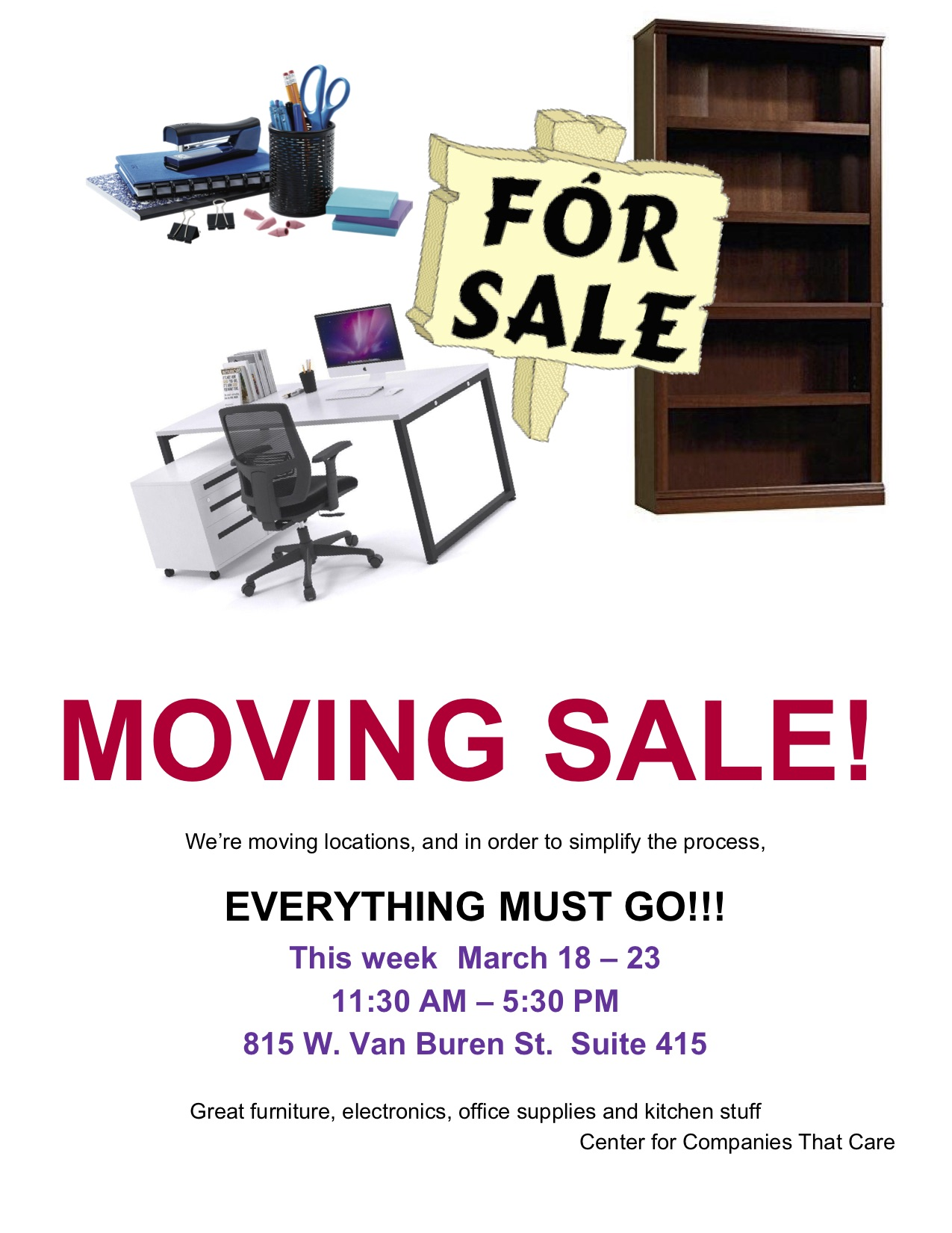 Moving Sale Flyer 1