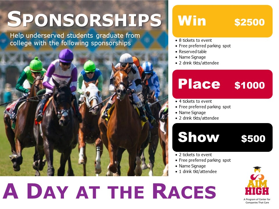 Sponsorships A Day at the Races